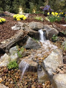 small pondless waterfall design ideas pictures remodel and decor