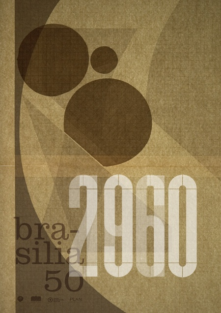 www.tomato.uk - Brasilia 50th Anniversary Poster in the collection posted by by Brasilia Prima, via Behance
