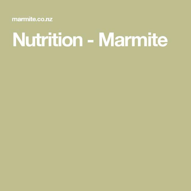 Nutrition - Marmite