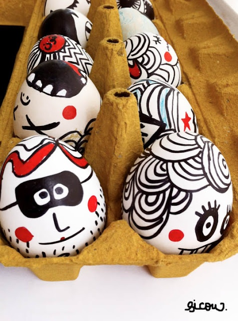 Try these Punk Rock Easter Eggs for your teenage Easter hunt or the eternal rocker at heart. Enjoy.    DIY Tip:  Use markers and concentrated food coloring egg dye to decorate your Punk Rock Eggs.