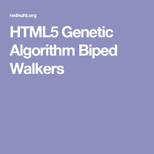 HTML5 Genetic Algorithm Biped Walkers