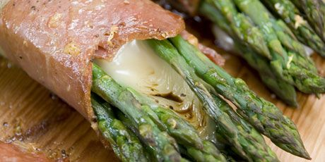 Planked Asparagus Bundles with Cheese