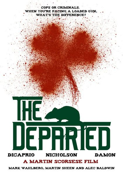 """Movie Poster for Martin Scorsese's """"The Departed"""""""