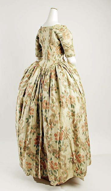 Robe à l'Anglaise Date: 1750–75 Culture: French Medium: [no medium available] Accession Number: C.I.68.52