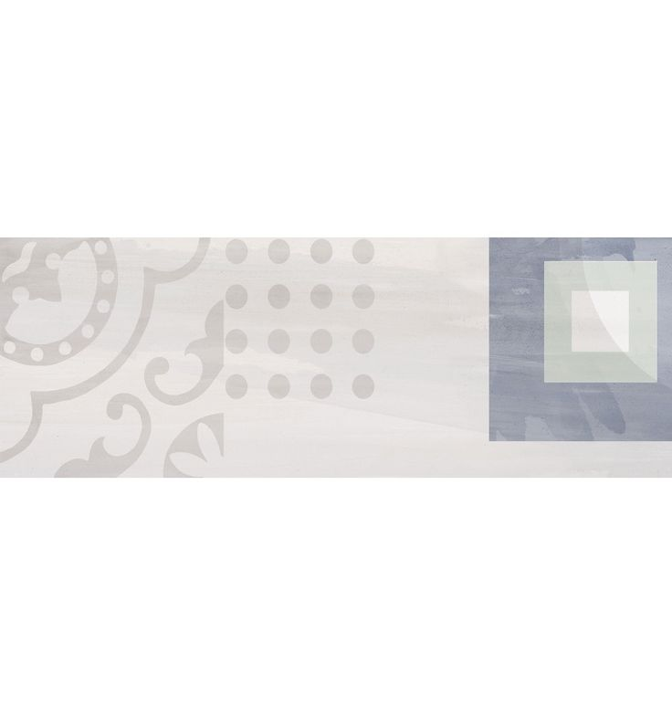 Kakel Cifre Dekoration Syland White 25x70