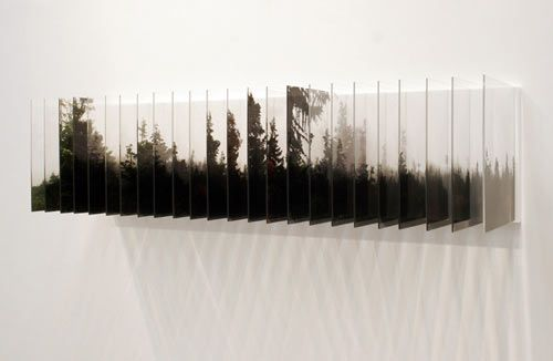 Nobuhiro Nakanishi - a series of photos captured over time + laser printed onto acrylic.