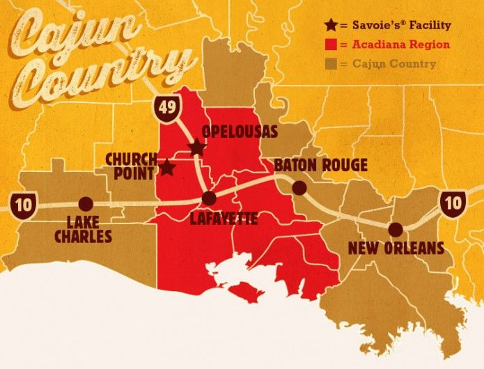 Map Of Cajun Country And Savoie S Facilities Savoie S