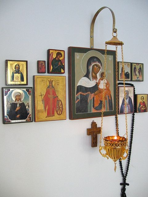 Floating home altar with icons