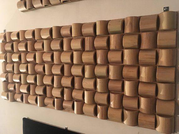 Bamboo Sound Diffuser Wall Art Etsy Bamboo Diy Bamboo Decor Wood Wall Art
