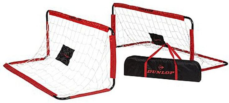 Dunlop Set van 2 voetbaldoelen (150x60x60)