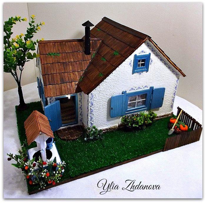 Избушка для Зайки. Миниатюрный кукольный домик. - Ярмарка Мастеров - ручная работа, handmade