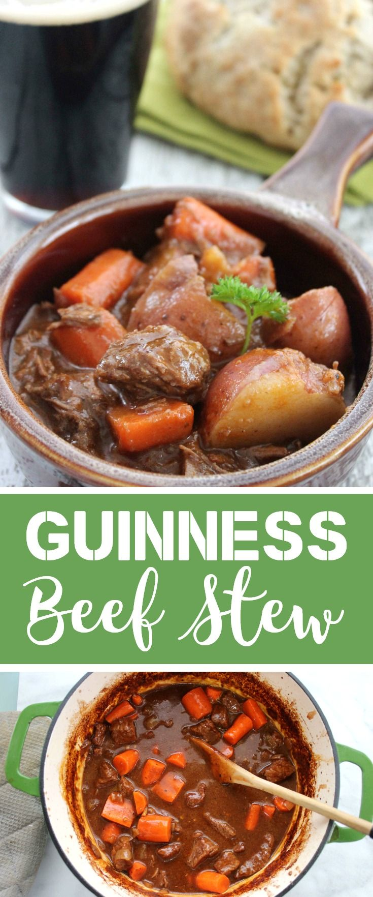 Hearty & Flavorful Guinness Beef Stew Recipe #stpatricksday