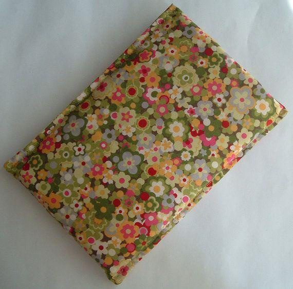 Kindle 3 Latest Ereader Sleeve, Kaffie Fassett Pansies Fabric, SALE PRICE