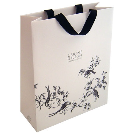 carine gilson paper bag illustration luxe refine details