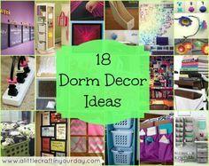 18 dorm room decor for teens and kids girl DIY