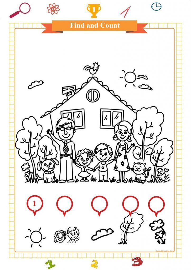 Count And Color In 2020 Free Math Worksheets Kids Math