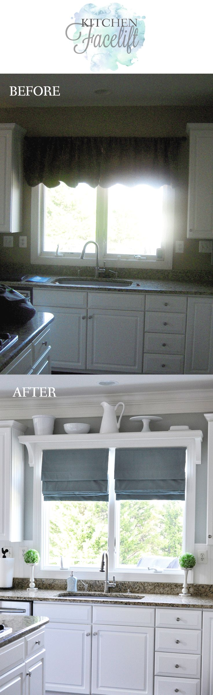 Beautiful kitchen facelift! When you want an update but don't need a full renovation, just a few small finishing touches and details.