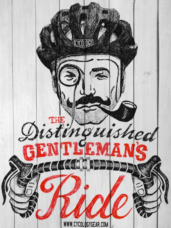 Having a bit of fun with some Vintage inspired cycling graphics -pencil on paper. *Cycology don't condone the use of pipes and monocles whilst riding. :)