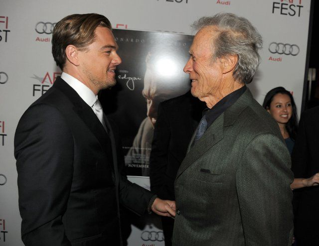 Leonardo DiCaprio and Clint Eastwood at event of J. Edgar (2011)