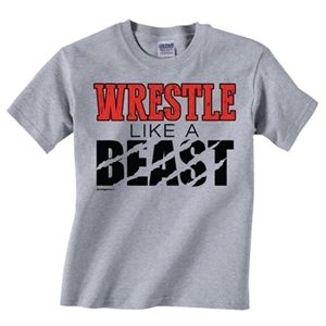 Wrestle like a Beast! Come and check out our new shirts in our Wrestling line!