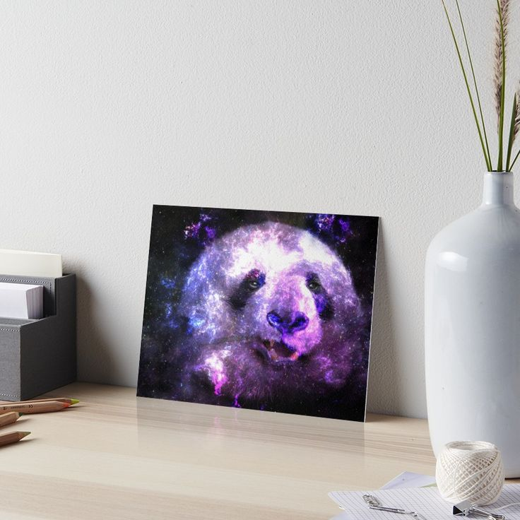 Galaxy Panda Mixing Colorful Space Nebula • Also buy this artwork on wall prints, apparel, stickers, and more.