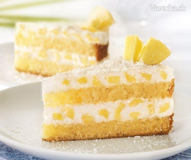 Trasená OLÉ kokosová torta s ananásom