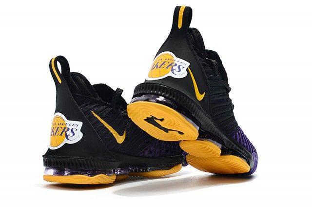 Nike LeBron 16 King Lakers Black Gold