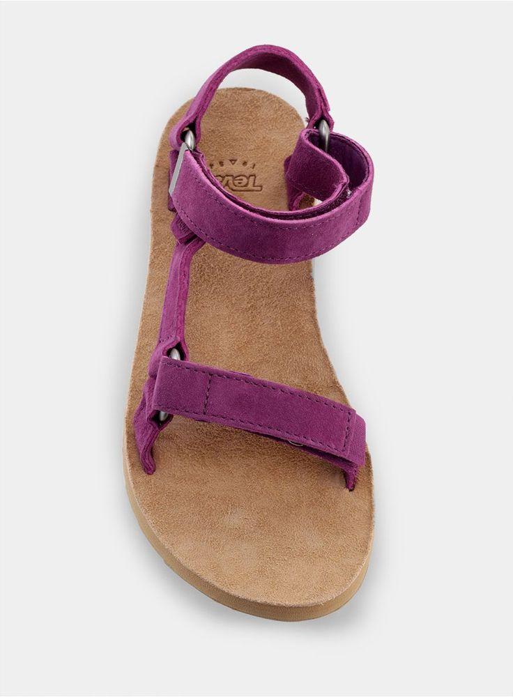 Skórzane sandały Teva Original Universal Suede Lady - dark purple
