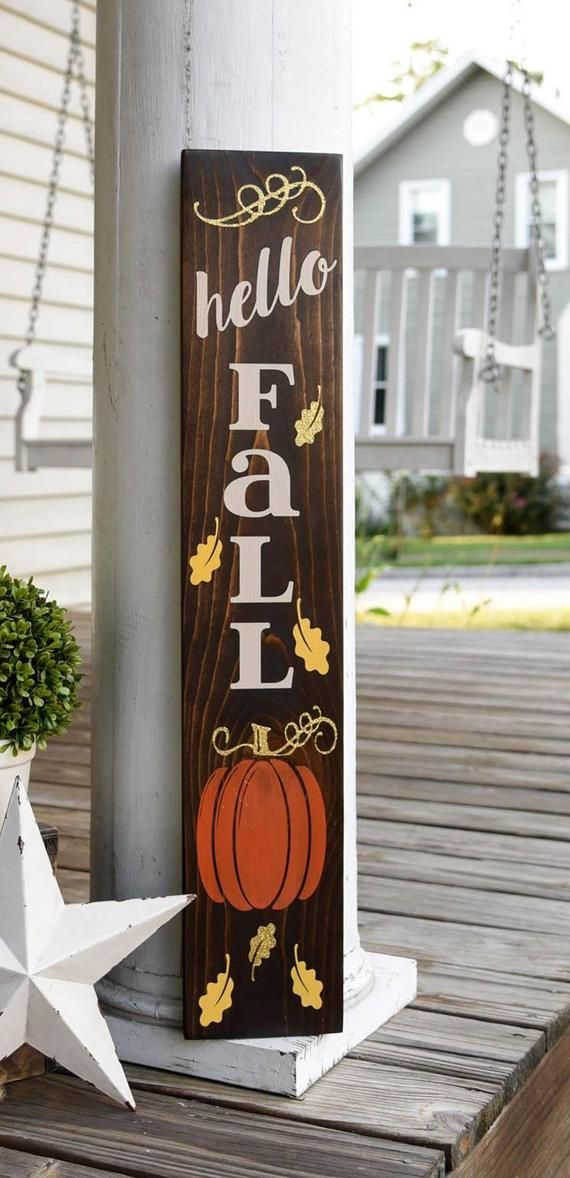 Hello Fall Porch Sign I Fall Sign I Fall Decor I Porch