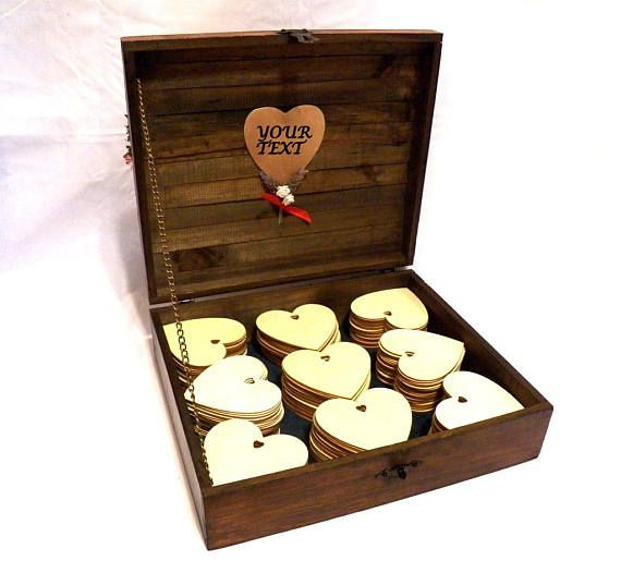 Personalized Wooden Guest Book Wedding Gift Advice Box