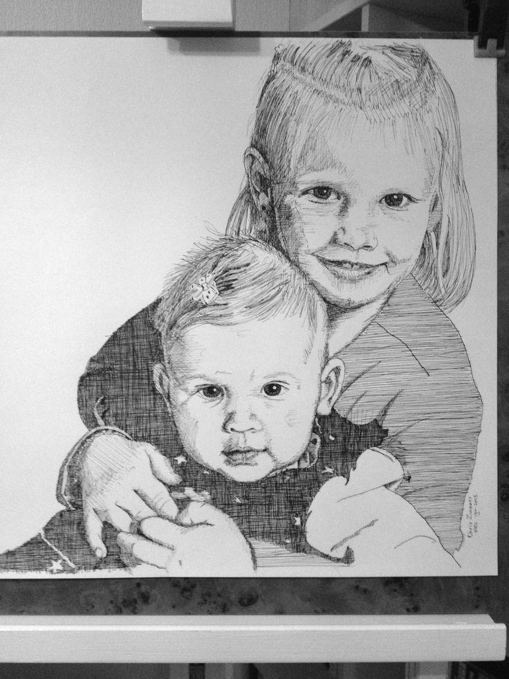 Kleinkinderen Maddie en Jaydie