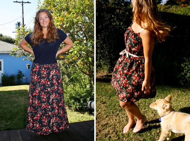 Dress from Thrifted Skirt | 10 Clever DIY Dress Hacks