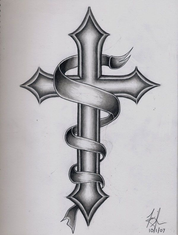 More Information on Cross Tattoo - Stylendesigns.com!