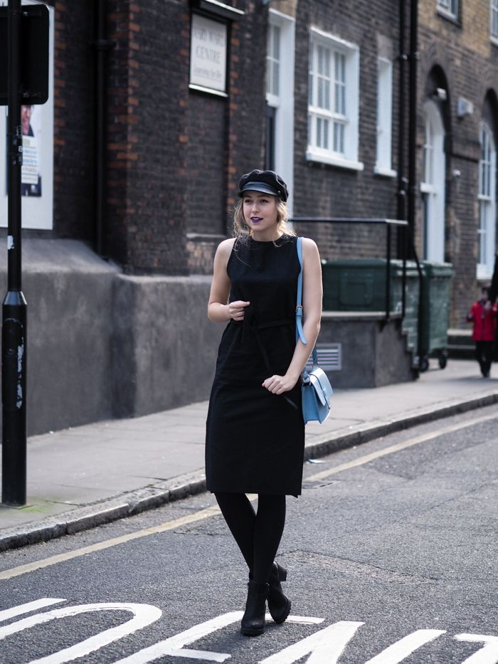 LUCI minimal black dress via A Cup Of Style