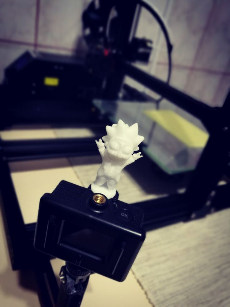 3D printed Rick 3dtechro 3dprinting 3dprint cr10