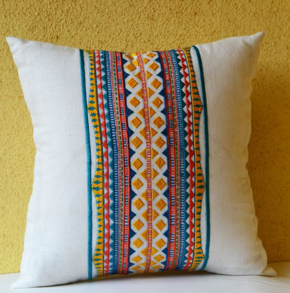 Decorative Pillow Dorm Decor Aztec Pillow Cover by AmoreBeaute