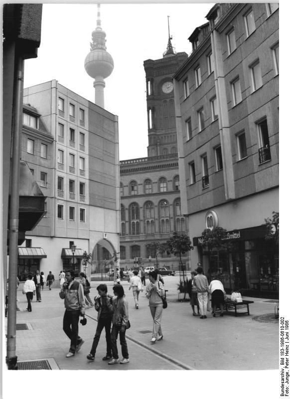 Berlin, Nikolaiviertel | Juli 1986