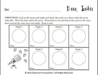 moon phases worksheets and worksheets for kids on pinterest. Black Bedroom Furniture Sets. Home Design Ideas