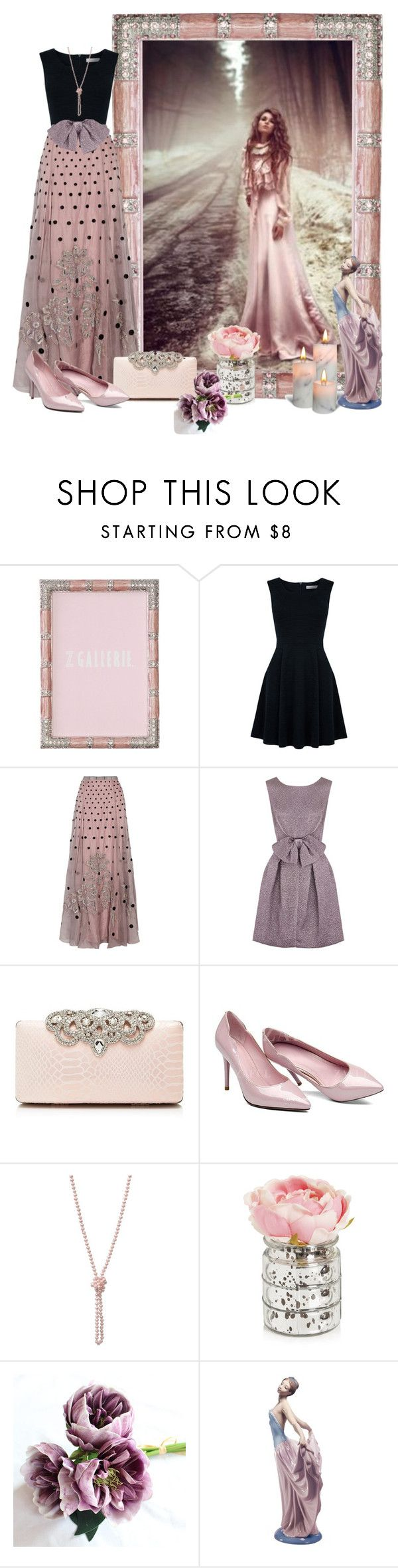 """""""SILK SKIRT"""" by concettodimoda ❤ liked on Polyvore featuring Quarto, Oasis, Temperley London, Nina Ricci, Forever New and Lladró"""