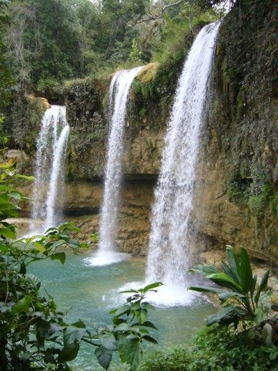 Bayaguana Waterfall, northeast of Santo Domingo, Dominican Republic