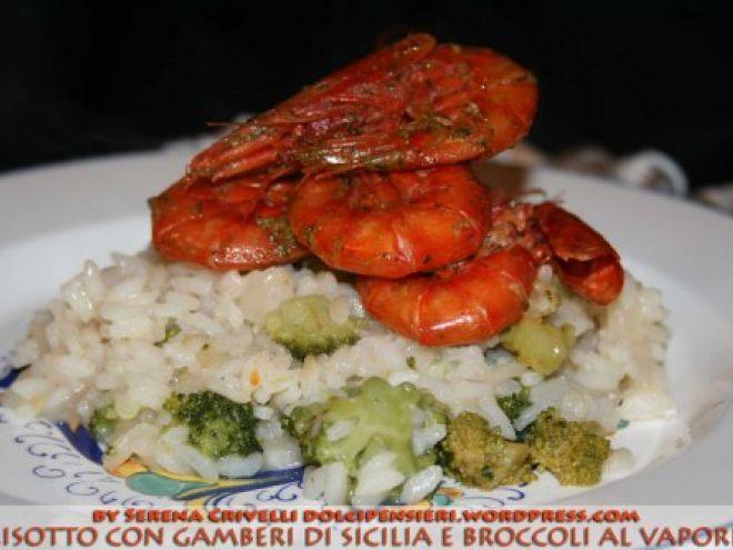 Ricetta Risotto con gamberi rossi e broccoli