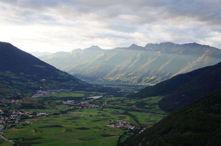 Das herrliche Panorama kann man von der Terrasse vom Alpin & Relax Hotel DAS GERSTL genießen