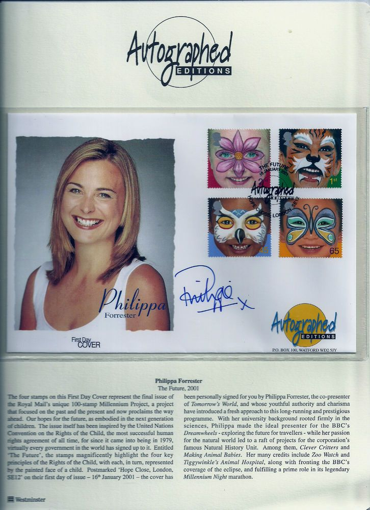 Philippa Forrester autographed First Day Cover #enfieldstamp