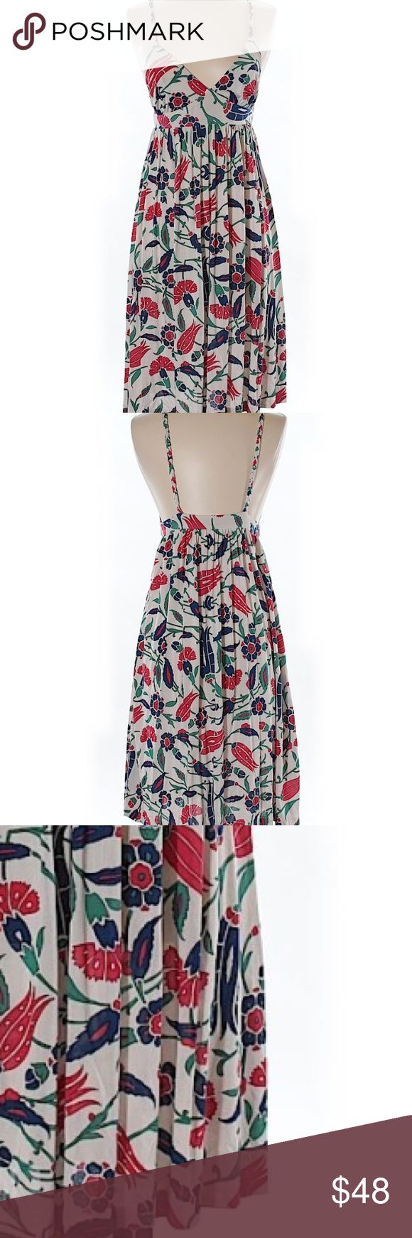 "Anthropologie / Nervis Lavi Printed Silk Dress Gently used. 100% Silk. 24"" chest, 27"" length. Anthropologie Dresses"
