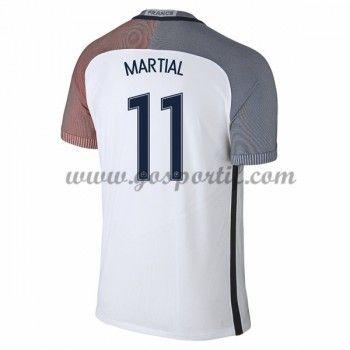 maillot de foot équipe nationale France 2016 Anthony Martial 11 maillot extérieur