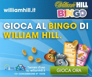 William Hill Bingo registrati e ricevi subito un bonus di 5 euro