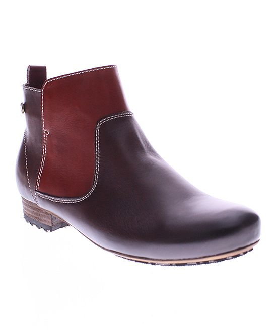 Mahogany Aladyn Leather Bootie