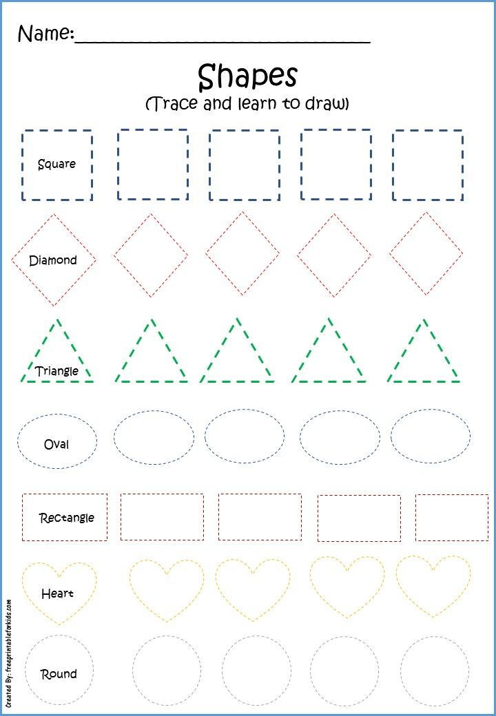 Free Printables for Pre K   Practice drawing shapes, Kids ...