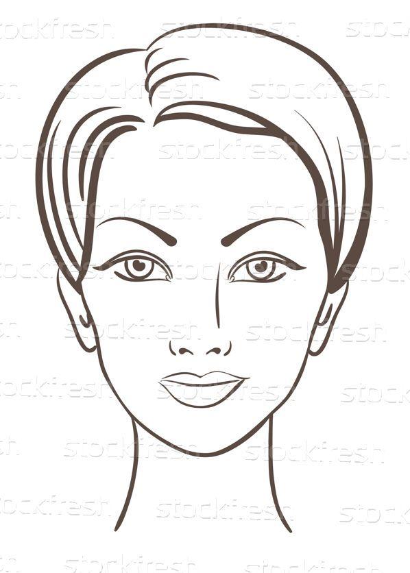 Gyönyörű · nő · arc · vektor · smink · terv - vektorgrafika © Elena S (ESSL) (#609920) | Stockfresh