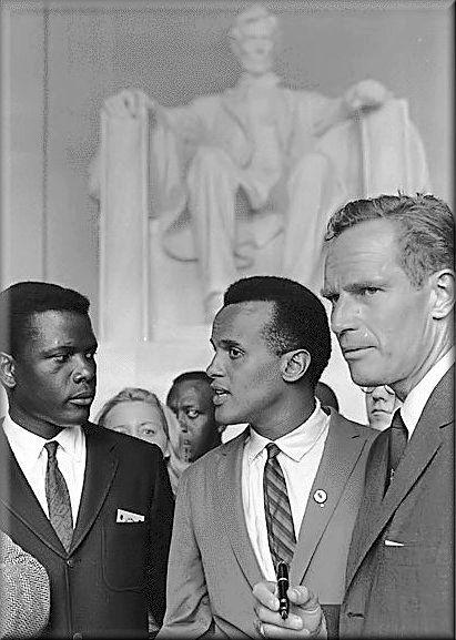 Sidney Poitier, Harry Belafonte & Charlton Heston. 1963